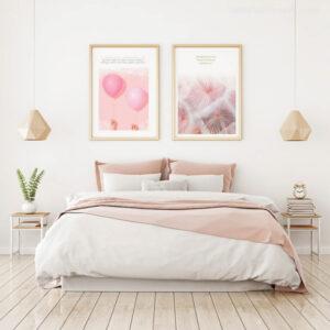 tranh pastel phòng ngủ