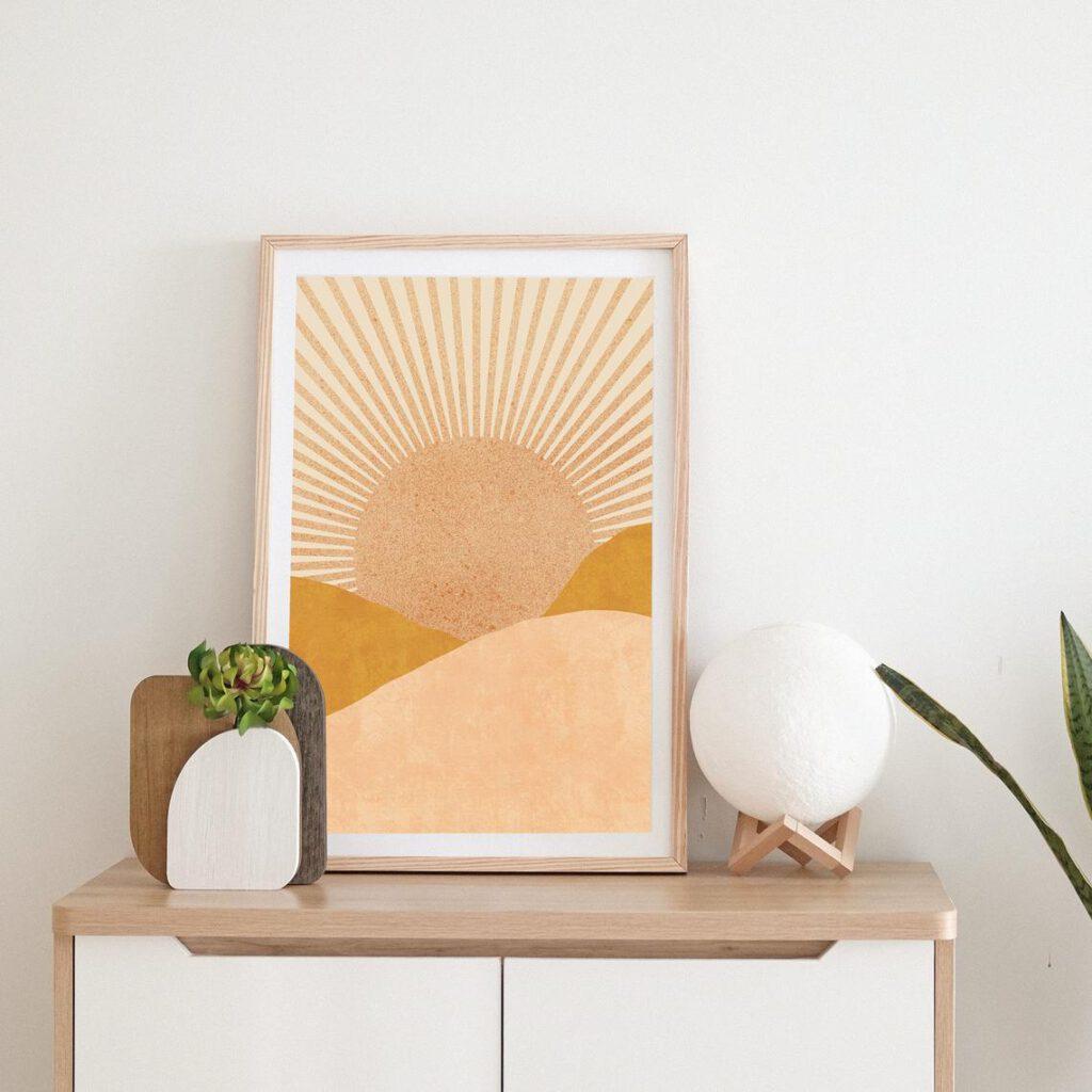 tranh minimalist boho đẹp