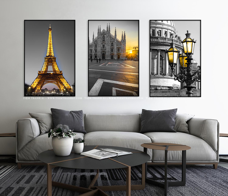 Tranh phong cảnh Châu Âu hiện đại