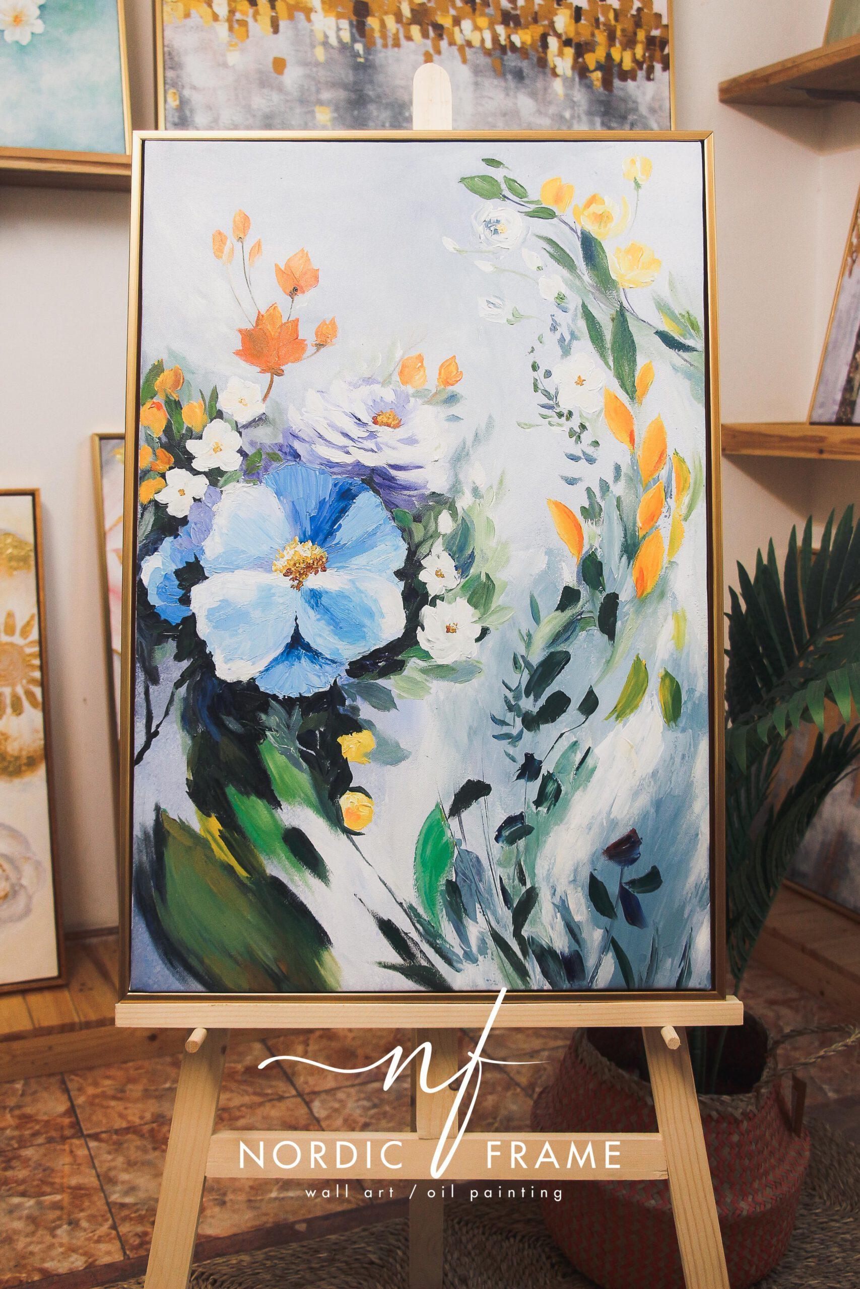tranh hoa chất liệu sơn dầu