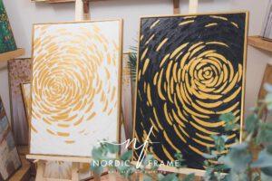 tranh sơn dầu hoa trừu tượng