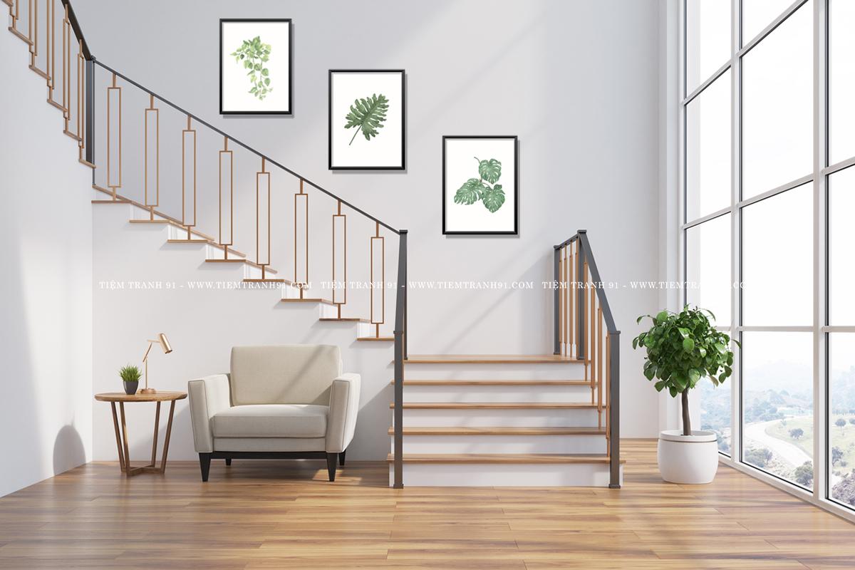 tranh treo cầu thang hiện đại