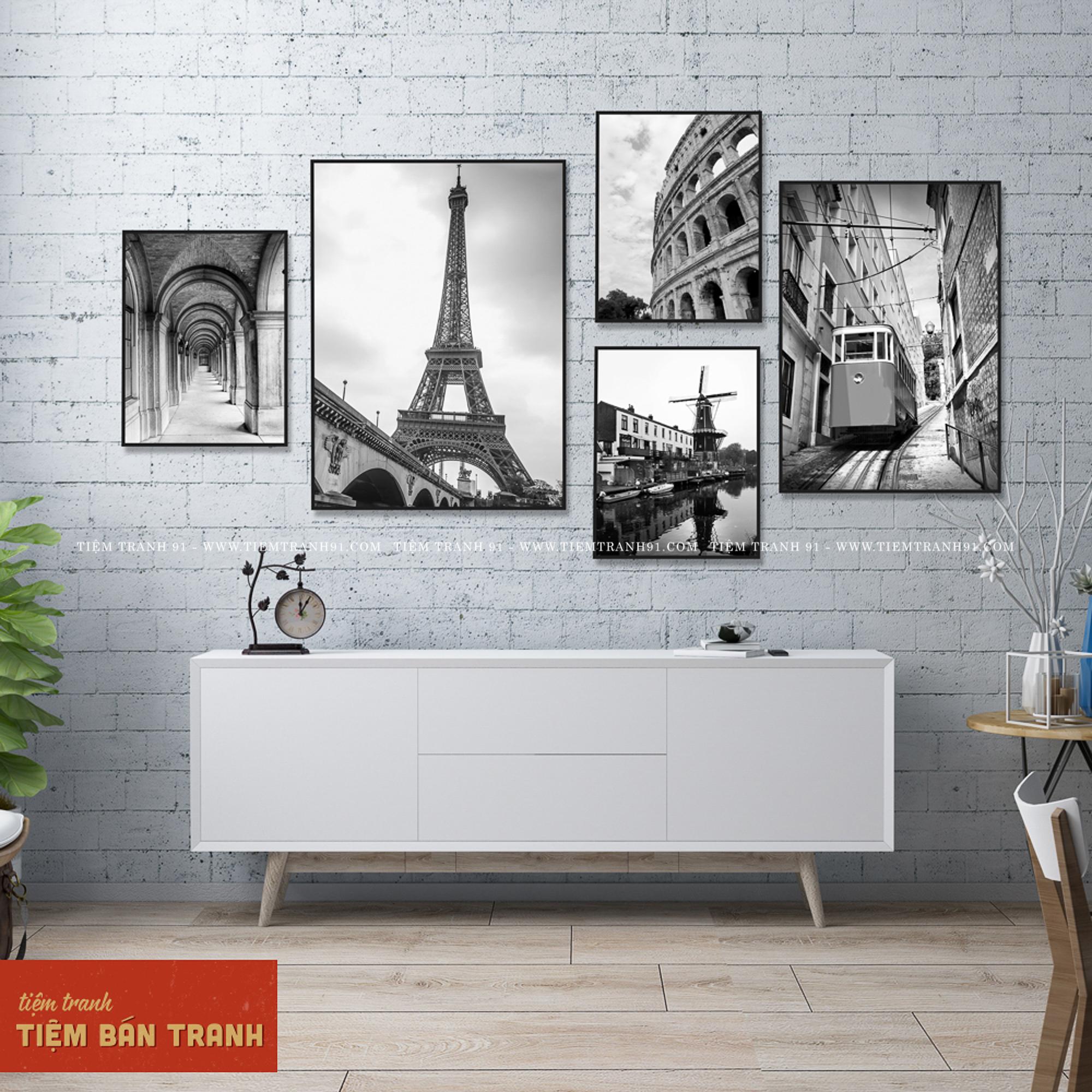 tranh treo tường đen trắng cổ điển